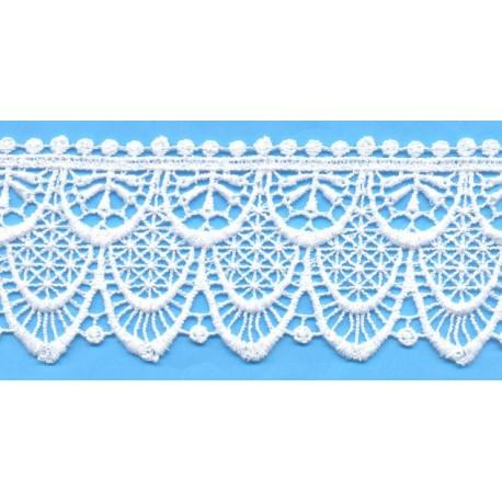 Δαντέλα 111615 Λευκό Βαμβακερό