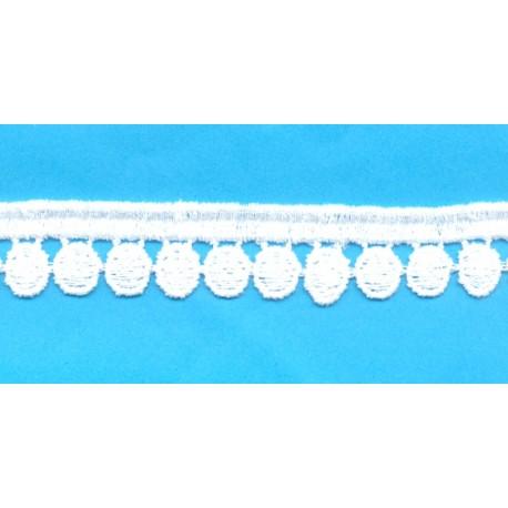 Δαντέλα 1100100 Λευκό Βαμβακερό